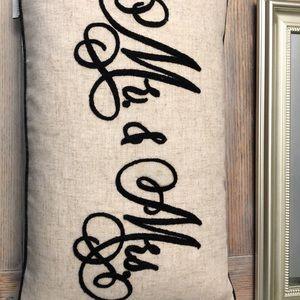 Mr. & Mrs. pillow